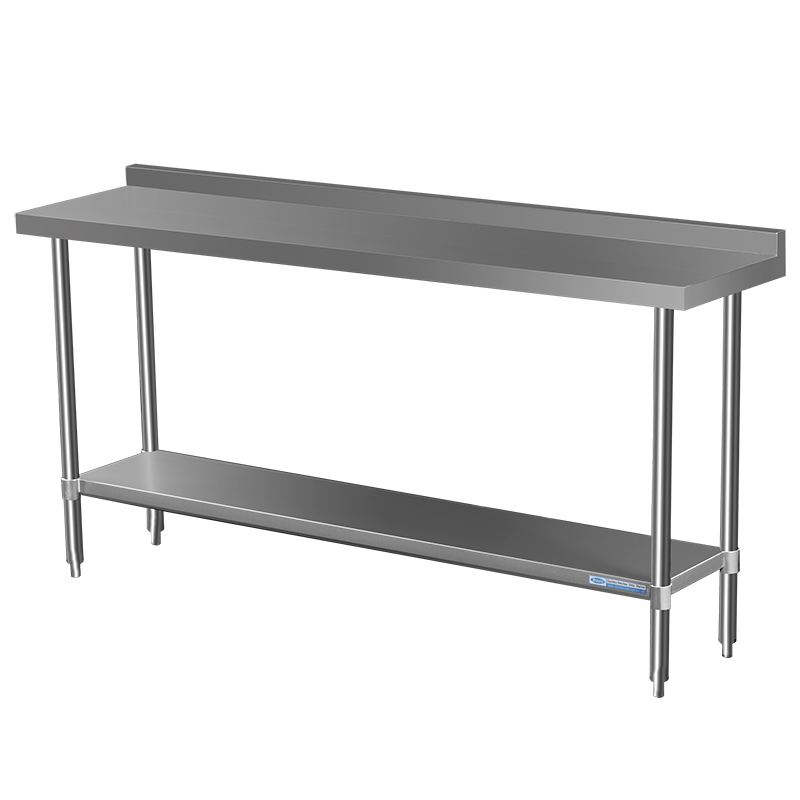 Commercial Grade Stainless Steel Splashback Bench, 2000 X 700 x 900mm high