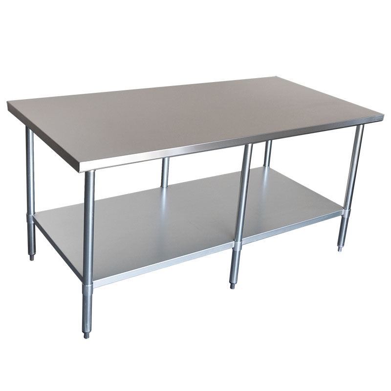 Commercial Grade Stainless Steel Wide Bench, 1829 x 914 x 900mm high