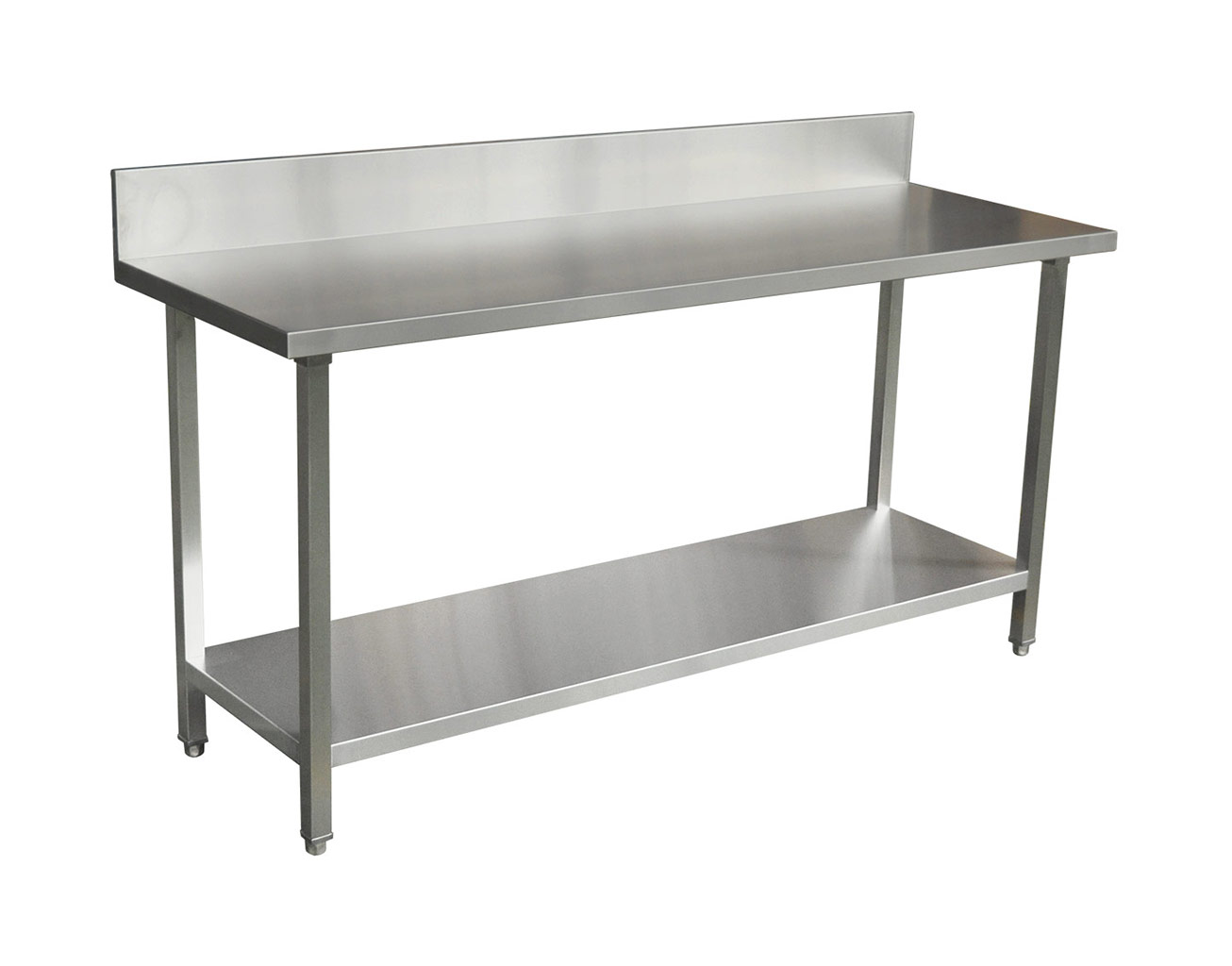 Commercial Grade Stainless Steel Splashback Bench, Premium Range 1800 X 610 X 900mm high