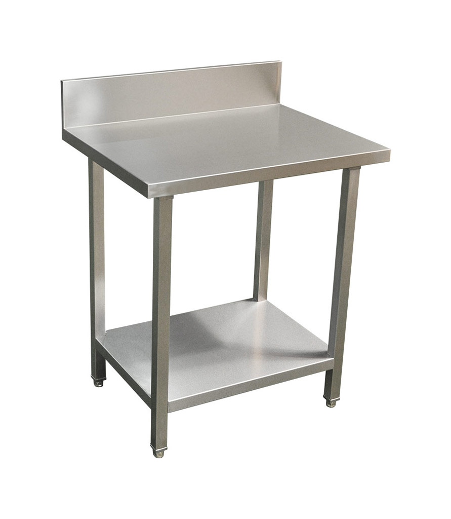 Commercial Grade Stainless Steel Splashback Bench, Premium Range 800 X 610 X 900mm high