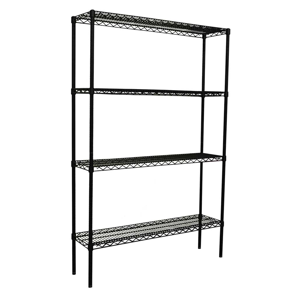 Epoxy Wire Coolroom Shelving, 4 Tier, 1219 x 305 deep x 1800mm high