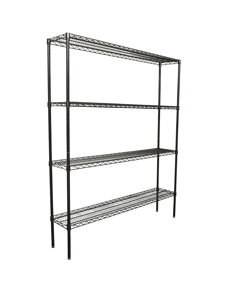 Epoxy Wire Coolroom Shelving, 4 Tier, 1524 x 305 deep x 1800mm high
