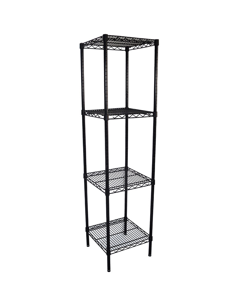 Epoxy Wire Shelving For Coolroom/Dry Store, 4 Tier, 457 X 457 deep x 1800mm high