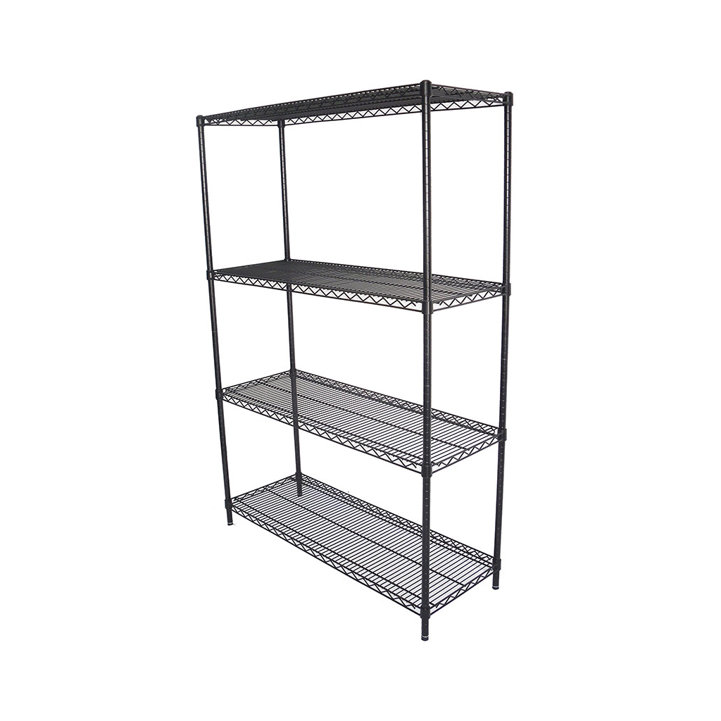 Epoxy Wire Shelving For Coolroom/Dry Store, 4 Tier, 1219 X 457 deep x 1800mm high