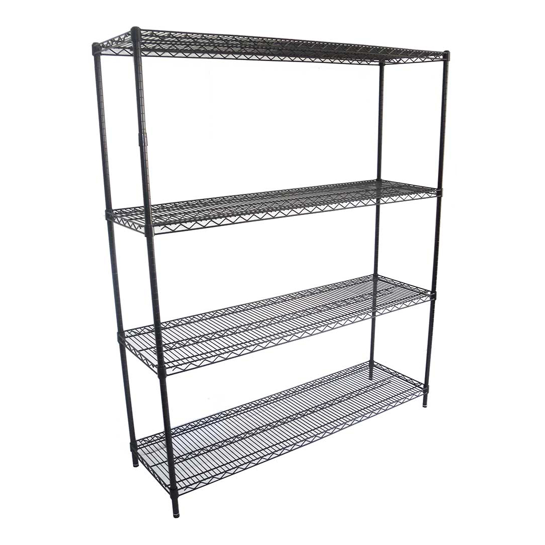 Epoxy Wire Coolroom Shelving, 4 Tier, 1524 X 457 deep x 1800mm high