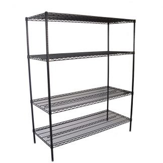Epoxy Wire Racking Shelves, 4 Tier, 1524 X 610 deep x 1800mm high-0