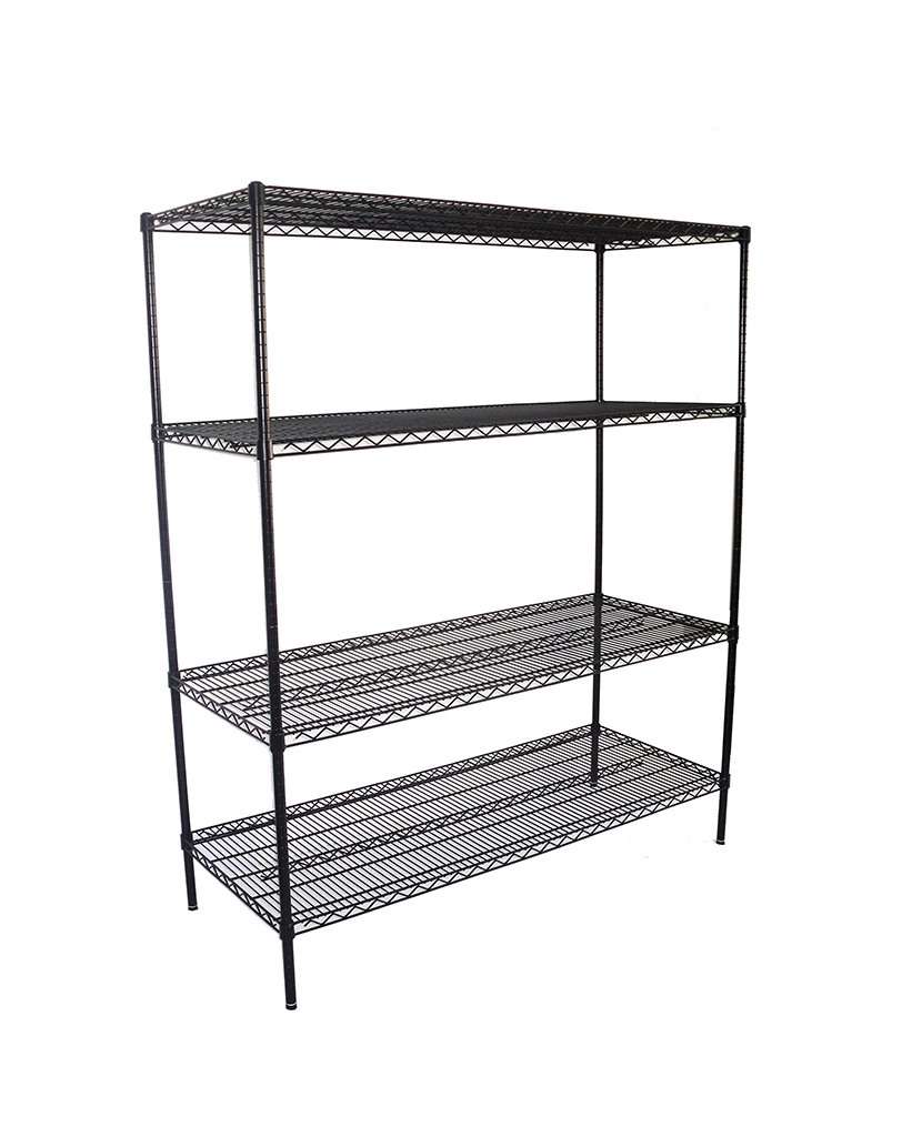 Epoxy Wire Shelving For Coolroom/Dry Store, 4 Tier, 1524 X 610 deep x 1800mm high