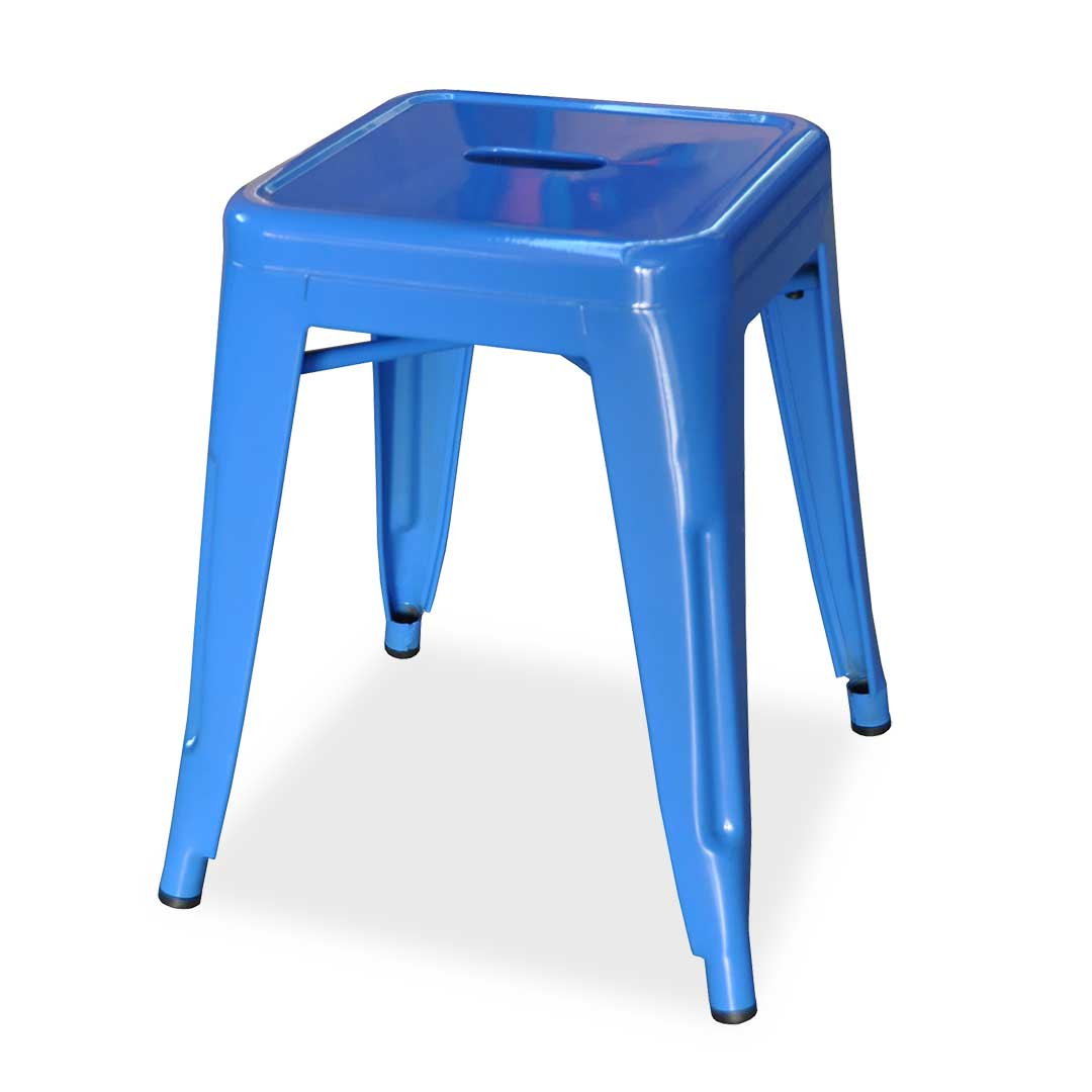Replica Xavier Pauchard Tolix Stool, 45cm, Blue
