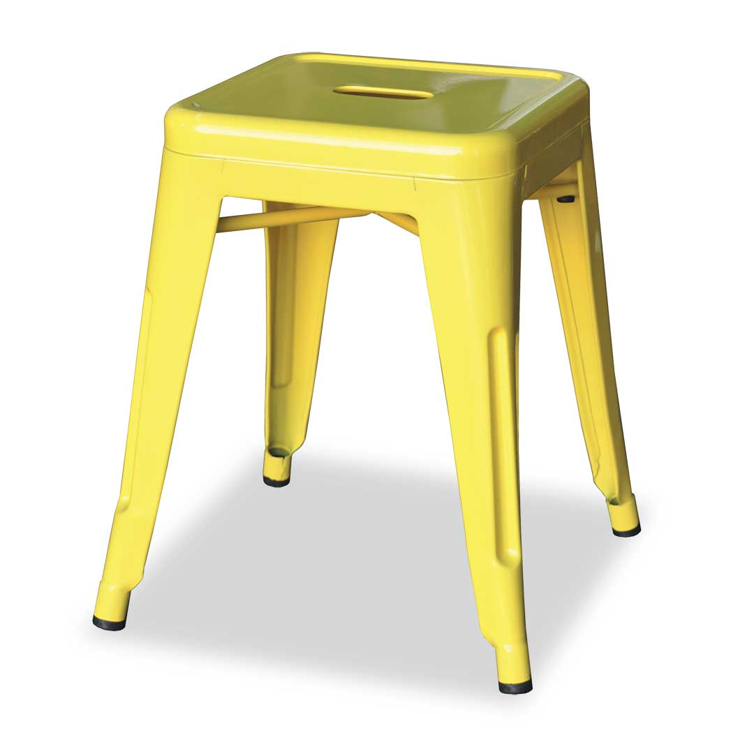 Replica Xavier Pauchard Tolix Stool, 45cm, Yellow