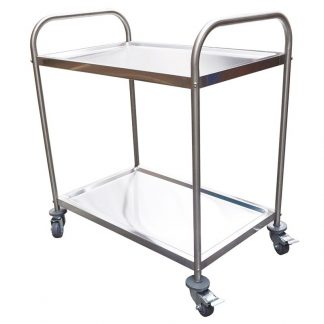 Stainless Trolley, 2-Tier With Castors, 825 x 530 x 800mm high-0