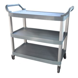 Polypropylene Trolley, 3-Tier With Castors, 890 X 510 x 845mm high-0